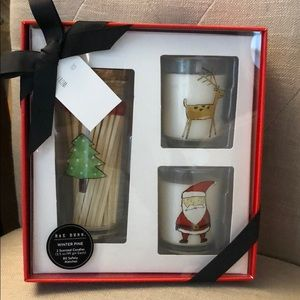Rae Dunn Christmas Candle & Matches Set